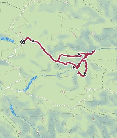 מפה / Galliebarinda and Hidden Falls