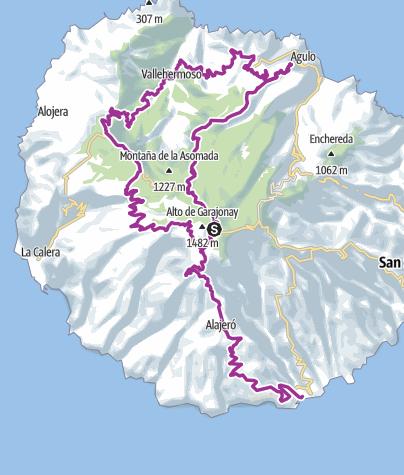 Mapa / Pajarito-Vallehermoso-Mir Abrante