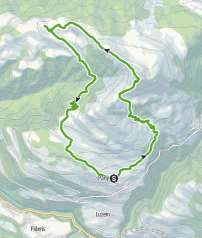 Map / Rundweg Pany (mit Chrüzgipfel)
