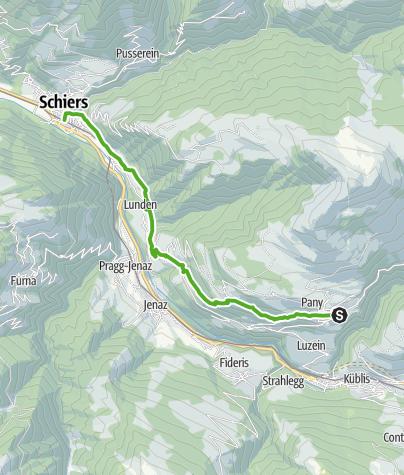 Map / Von Pany nach Schiers