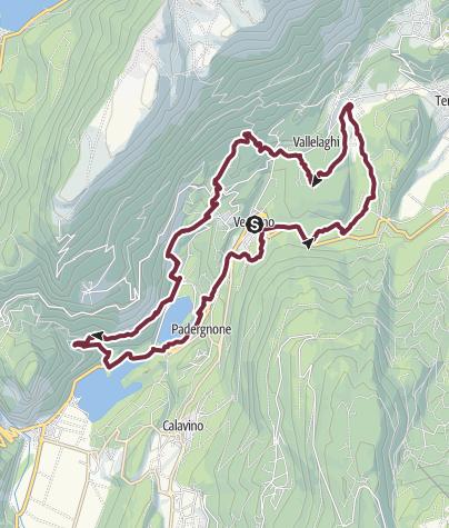 Map / Il Sentiero dei 7 passi ovvero le sette frazioni dell'ex comune di Vezzano