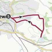 Map / Lewes to Mount Caburn circular