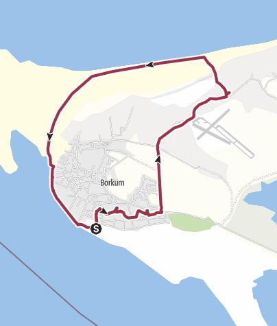Karte / Borkum Süd - Ost - Nord -Süd