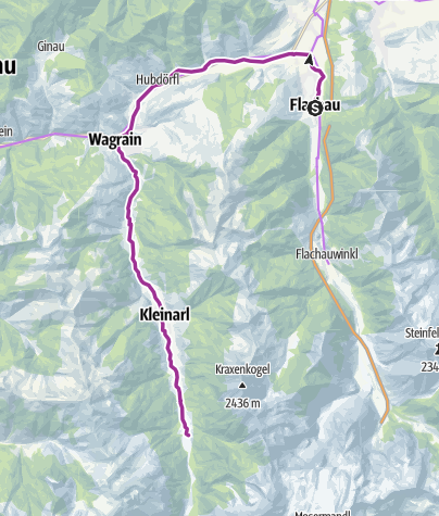 Karte / Flachau - Kleinarl Jägersee - E-Trekkingbike