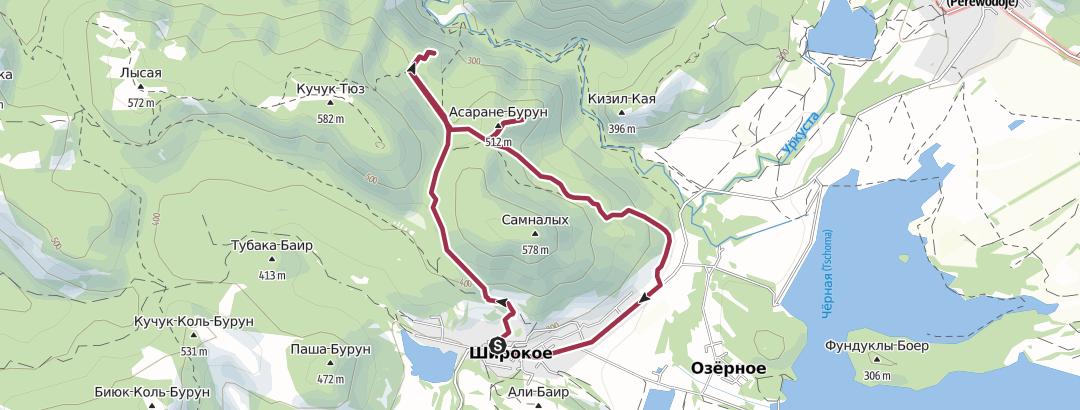 地图 / Широкое - Румыны - Асаране