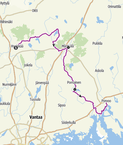 Map / Cycling in Mustijoki River Valley in Helsinki Region