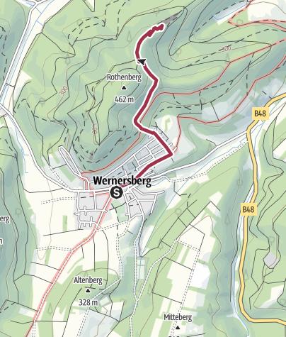 Karte / Zustieg - Rothenfelsen