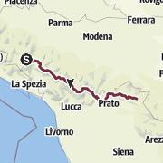 מפה / Grande Escursione Appenninica [GEA] - Highlight Trail for 1 Week (240 km)