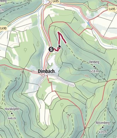 Karte / Zustieg - Dimbacher Gratfelsen
