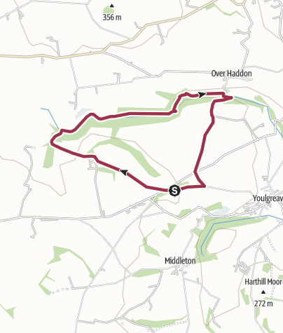 Map / D227: Lathkill Valley from the south