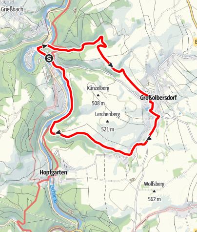 Karte / Karl-Stülpner-Rundweg (Scharfenstein)