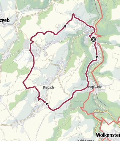 Karte / Zwischen Burg und Planeten