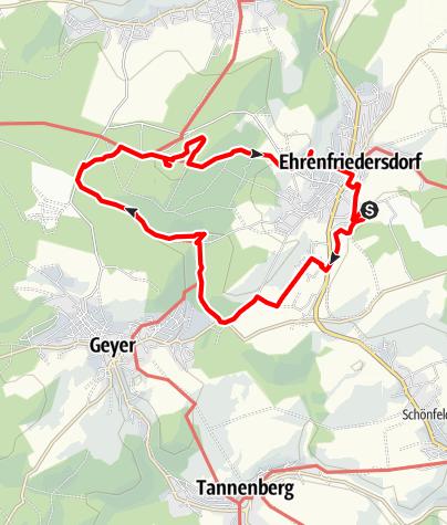Karte / Bergbaulehrpfad Silberstraße Ehrenfriedersdorf