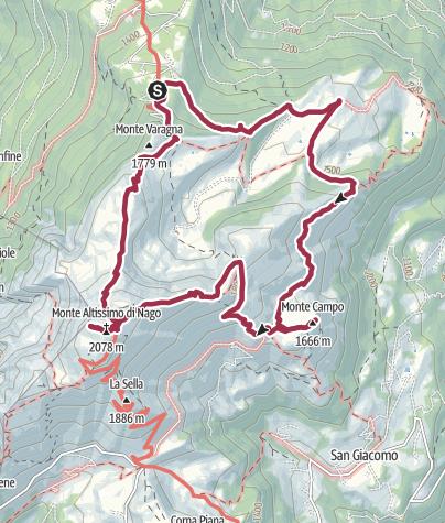 Map / Monte Altissimo di Nago