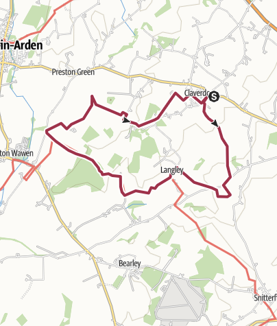 Map / Claverdon 14km