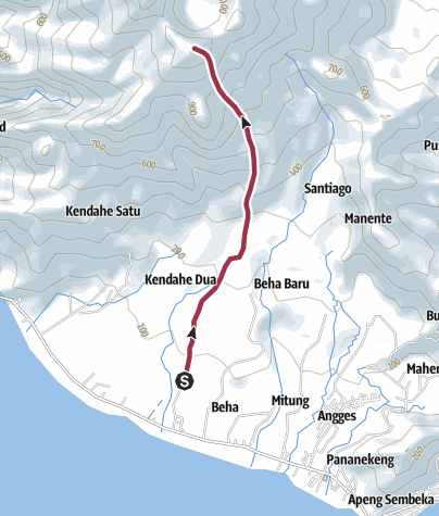 Mapa / Jalur Pendakian Gunung Awu
