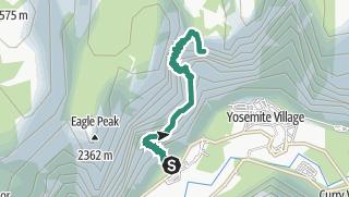 Map / Upper Yosemite Falls Trail
