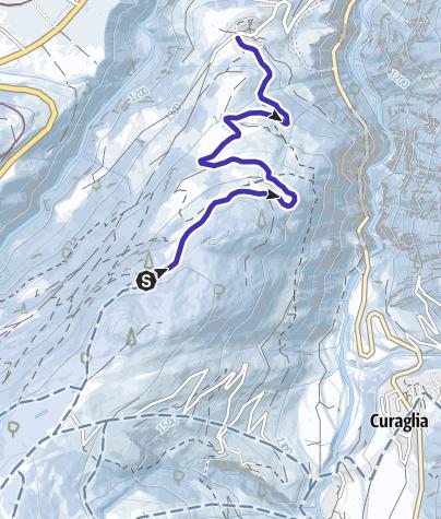 Karte / 815 Schlittelweg Mompé Medel mit Wander-Aufstieg