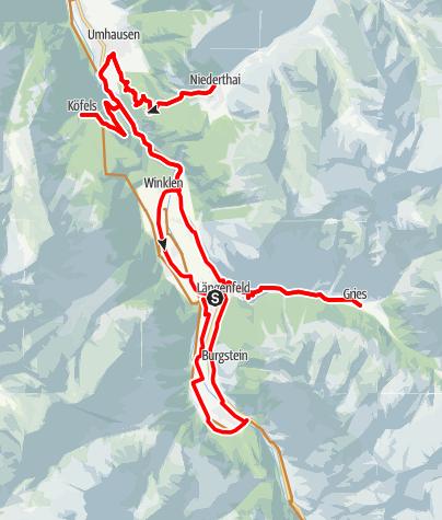 Karte / Biketour Bergdörfer Runde