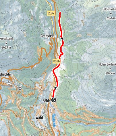 Karte / Biketour zum Kaiserwald (603)