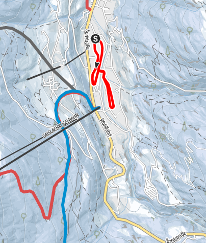 Map / Cross-Country Track Hofer Böden/Windau - Sölden