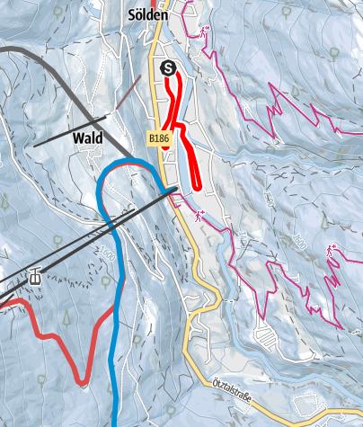 Karte / Loipe Hofer Böden/Windau - Sölden