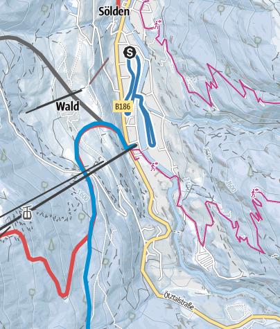 Map / Cross-Country Track Hofer Böden/Windau - Sölden