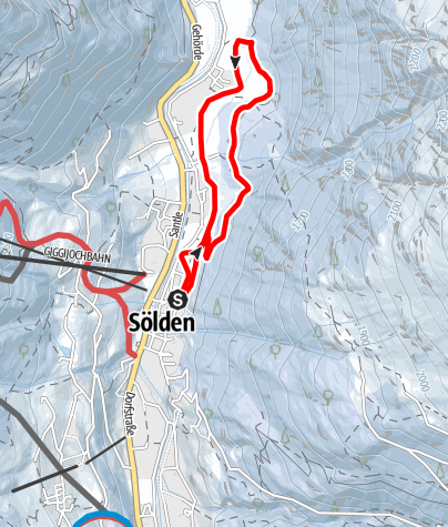 Map / Cross-Country Track Untersölden - Sölden