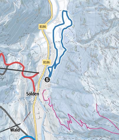 Map / Cross-Country Track Untersölden - Sölden