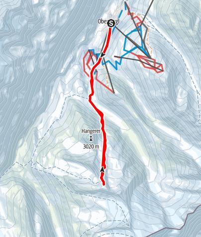 Karte / Eiskögele vom Rotmoostal aus