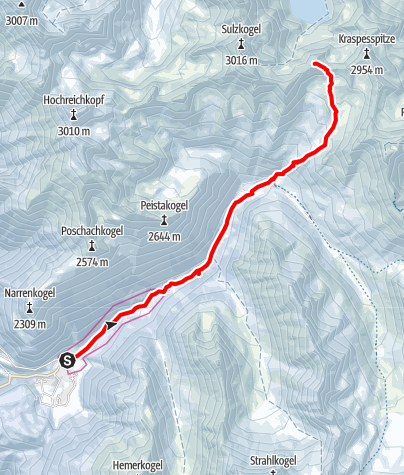 Map / Finstertaler Schartenkopf, 2856m - Umhausen-Niederthai