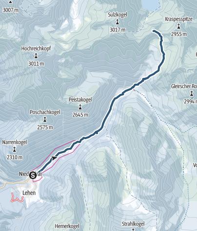 Map / Finstertaler Schartenkopf, 2856m - Umhausen-Niederthai