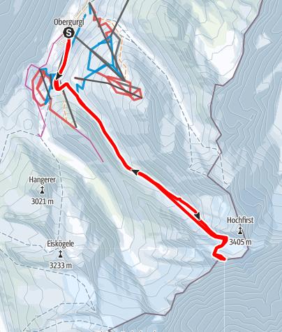 Karte / Liebenerspitze Hauptgipfel