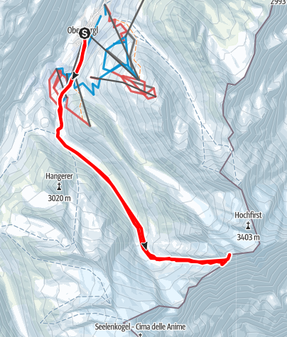 Map / Liebenerspitze West Summit