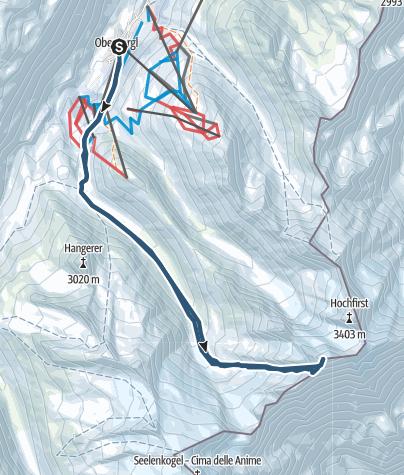 Map / Liebenerspitze West Summit