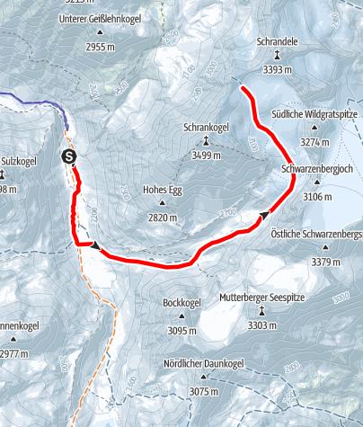 Karte / Schrankarkopf  3254m Längenfeld/Gries