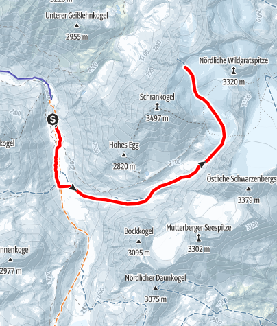 Map / Schrankarkopf  3254m Längenfeld/Gries