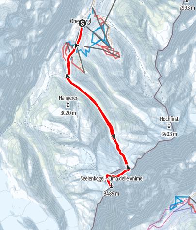 Map / Hinterer Seelenkogel vom Rotmoostal aus