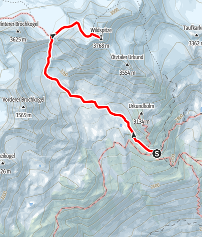Map / Breslauer Hut - Wildspitze