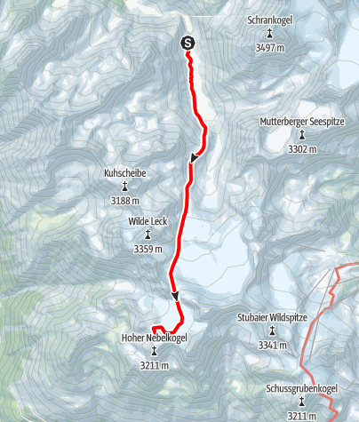 Map / Ötztal Trek Stage 05