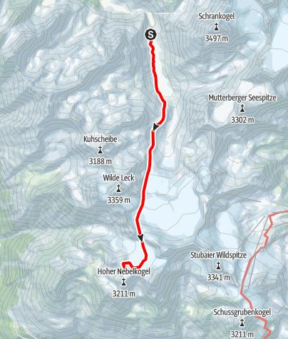 Karte / Ötztal Trek Etappe 05