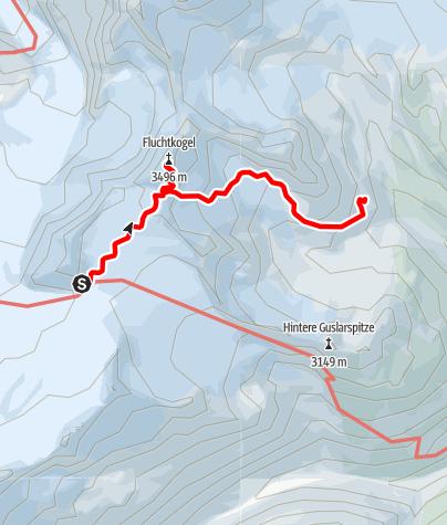 Karte / Ötztal Trek Etappe 15
