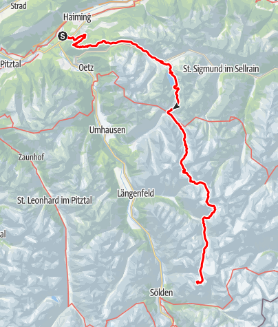 Map / Ötztal Trek Route 1