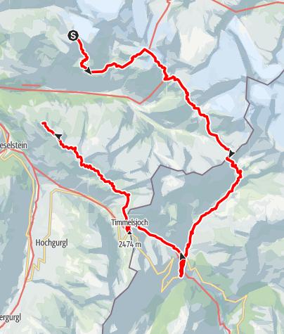 Karte / Ötztal Trek Route 2