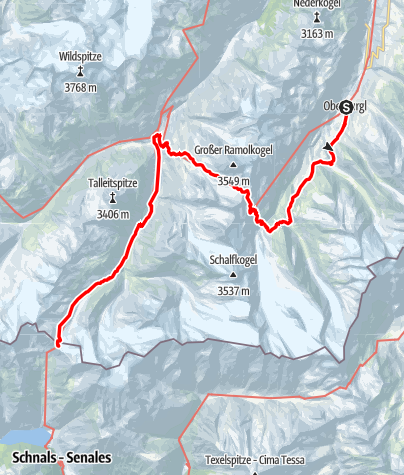 Map / Ötztal Trek Route 3