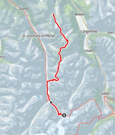 Karte / Ötztal Trek Route 5