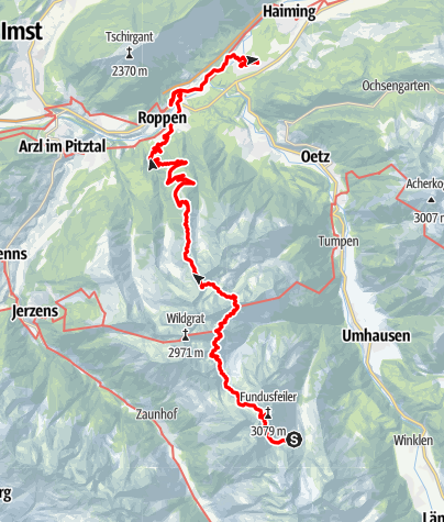 Map / Ötztal Trek Route 6