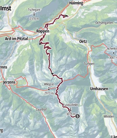 Map / Ötztal Trek Route 6