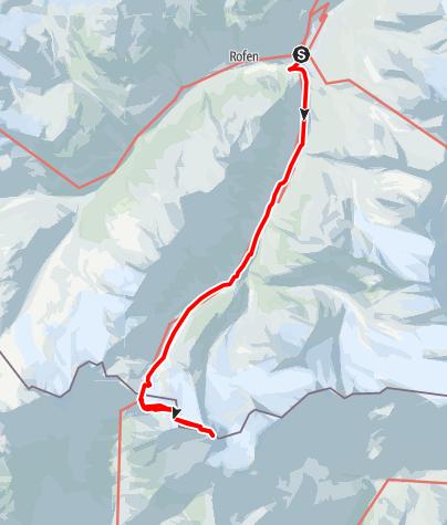 Karte / Similaun Hütte - Similaun - Martin Busch Hütte