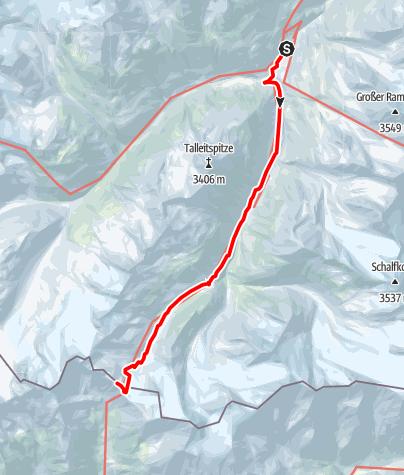 Karte / Vent - Martin Busch Hütte - Similaunhütte